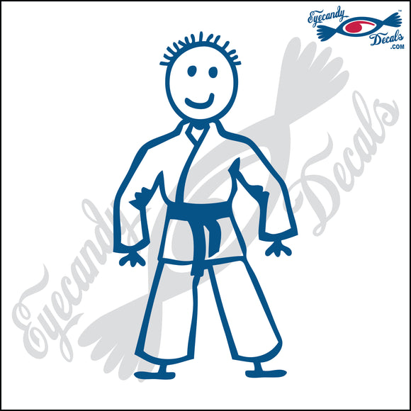 STICK FAMILY BOY IN KARATE UNIFORM   4