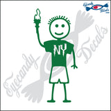 "STICK FAMILY BOY IN NEW YORK   4"" DECAL"