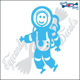 "STICK FAMILY BOY ASTRONAUT   4"" DECAL"
