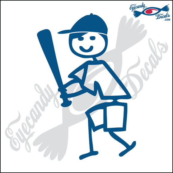 STICK FAMILY BOY SWINGING BASEBALL BAT   4