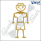 "STICK FAMILY BOY ZOMBIE   4"" DECAL"