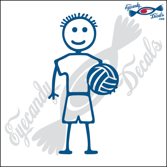 STICK FAMILY BOY HOLDING VOLLEYBALL   4