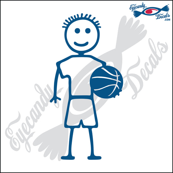 STICK FAMILY BOY HOLDING BASKETBALL   4