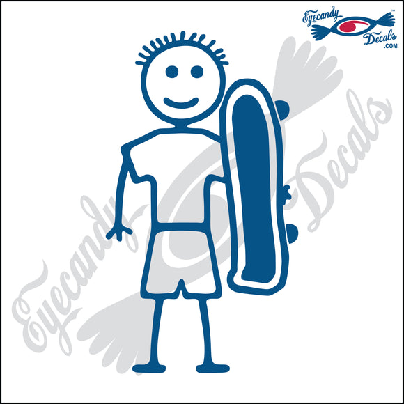 STICK FAMILY BOY SKATEBOARDER   4