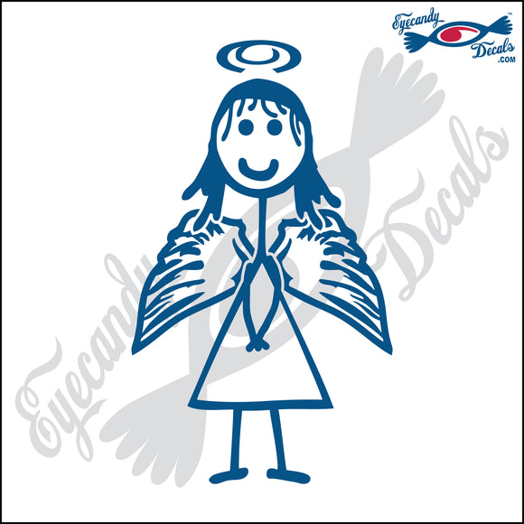 STICK FAMILY GIRL ANGEL   4