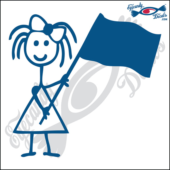 STICK FAMILY GIRL WAVING FLAG   4
