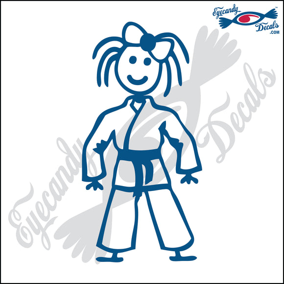 STICK FAMILY GIRL IN KARATE UNIFORM   4