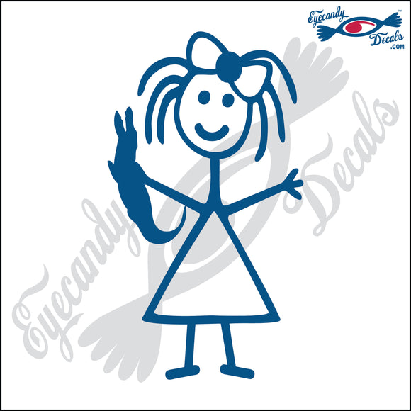 STICK FAMILY GIRL HOLDING ALLIGATOR   4