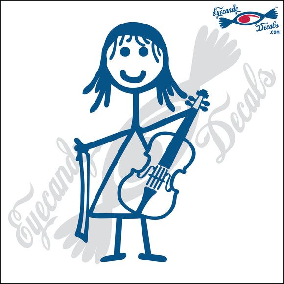 STICK FAMILY GIRL PLAYING VIOLIN   4