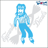 "STICK FAMILY GIRL HOCKEY REFEREE   4"" DECAL"