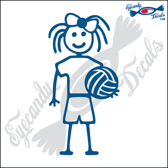 STICK FAMILY GIRL HOLDING VOLLEYBALL   4