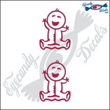 "STICK FAMILY BABY ORIGINAL   2.5"" 2 PACK DECAL"
