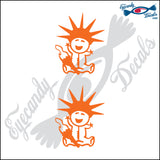 "STICK FAMILY BABY IN NEW YORK   2.5"" DECAL"