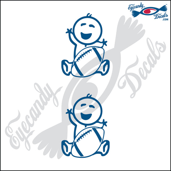 STICK FAMILY BABY HOLDING FOOTBALL   2.5