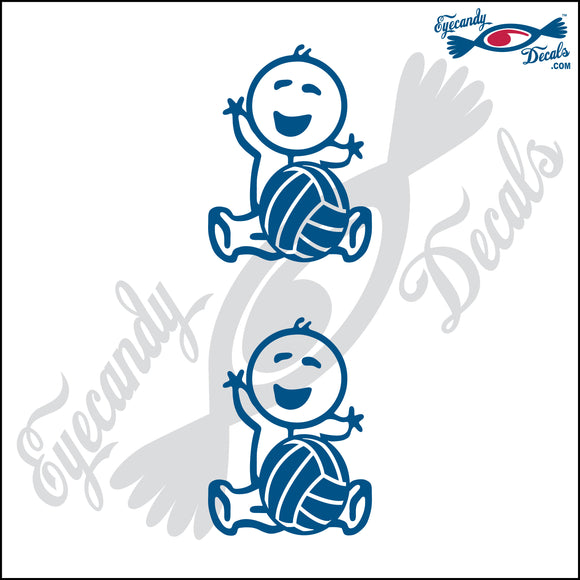 STICK FAMILY BABY HOLDING VOLLEYBALL   2.5