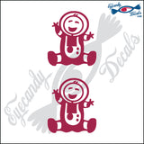 "STICK FAMILY BABY ASTRONAUT   2.5"" 2 PACK DECAL"