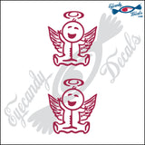 "STICK FAMILY BABY ANGEL   2.5"" 2 PACK DECAL"