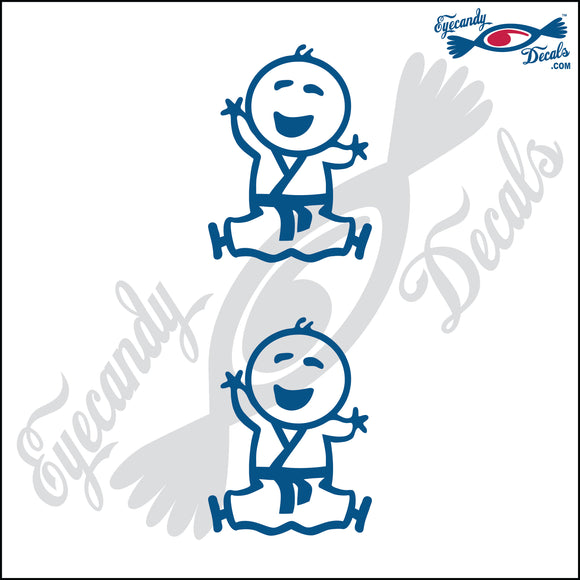 STICK FAMILY BABY IN KARATE UNIFORM   2.5