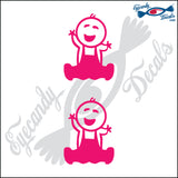 "STICK FAMILY BABY FARMER   2.5"" 2 PACK DECAL"