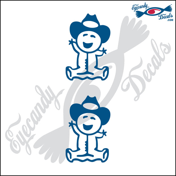 STICK FAMILY BABY WEARING COWBOY HAT   2.5