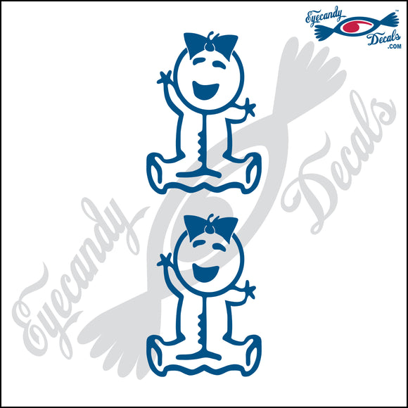 STICK FAMILY BABY WITH BOW IN HAIR   2.5