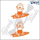 "STICK FAMILY BABY BOY SURFER   2.5"" DECAL"