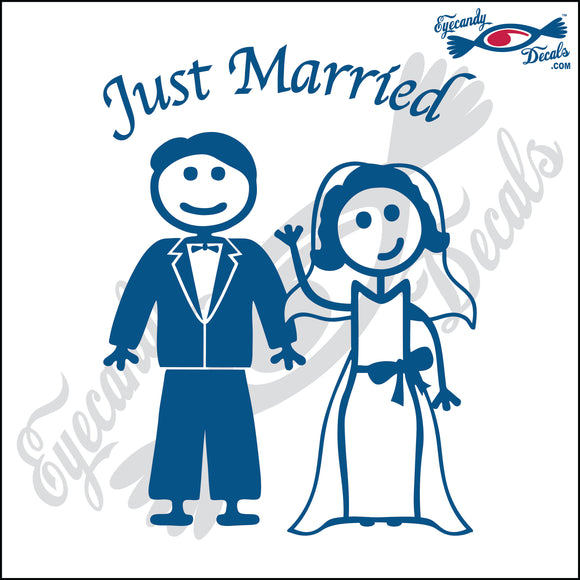 JUST MARRIED MAN AND WOMAN STICK PEOPLE  6