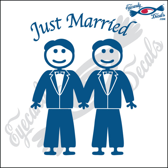 GAY MARRIAGE JUST MARRIED MAN AND MAN STICK PEOPLE  6