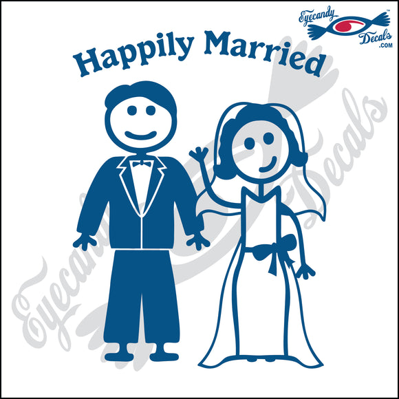 HAPPILY MARRIED MAN AND WOMAN STICK PEOPLE  6
