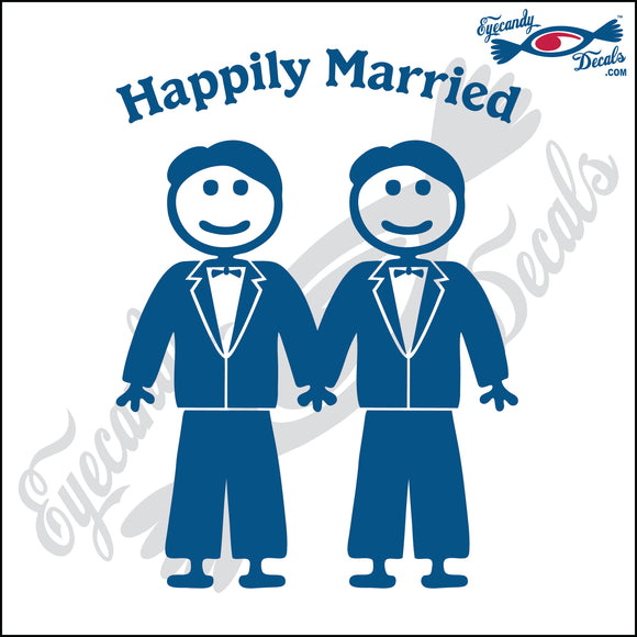 GAY MARRIAGE HAPPILY MARRIED MAN AND MAN STICK PEOPLE  6