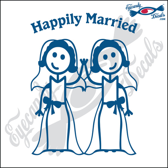 GAY MARRIAGE HAPPILY MARRIED WOMAN AND WOMAN STICK PEOPLE  6