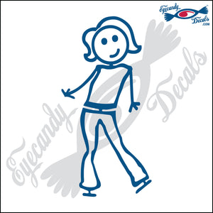 "STICK FAMILY LADY SHORT HAIR SASSY   5"" DECAL"