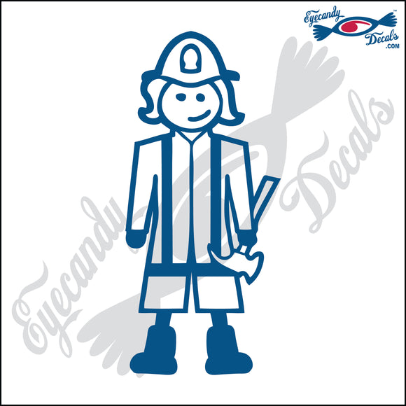 STICK FAMILY LADY FIRE FIGHTER PLAYER   5