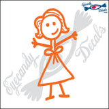 "STICK FAMILY LADY MORE HAIR   5"" DECAL"