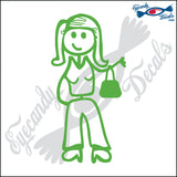 "STICK FAMILY LADY SHOPPER   5"" DECAL"