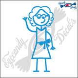 "STICK FAMILY LADY GRANDMA   5"" DECAL"