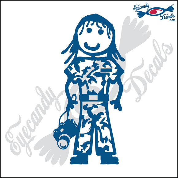 STICK FAMILY LADY SOLDIER WITH CAMERA   5