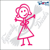 "STICK FAMILY LADY FIRST MOM   5"" DECAL"