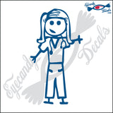 "STICK FAMILY LADY DOCTOR   5"" DECAL"