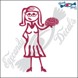 "STICK FAMILY LADY PSYCHOLOGIST   5"" DECAL"