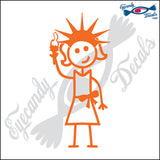 "STICK FAMILY LADY IN NEW YORK   5"" DECAL"