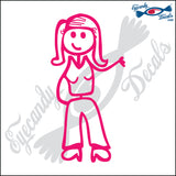 "STICK FAMILY LADY SASSY   5"" DECAL"