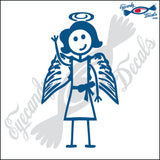 "STICK FAMILY LADY ANGEL   5"" DECAL"