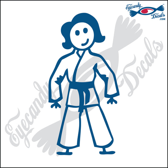 STICK FAMILY LADY IN KARATE UNIFORM   5