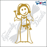 "STICK FAMILY LADY BRIDE   5"" DECAL"