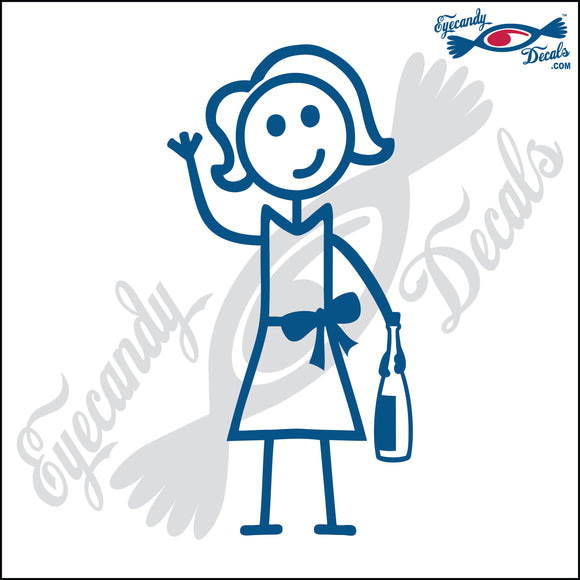 STICK FAMILY LADY HOLDING WINE BOTTLE   5