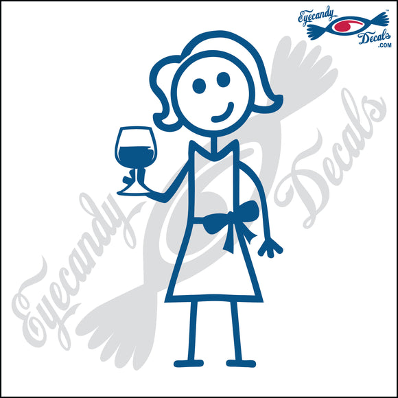 STICK FAMILY LADY HOLDING WINE GLASS   5