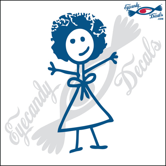 STICK FAMILY LADY WITH AFRO   5