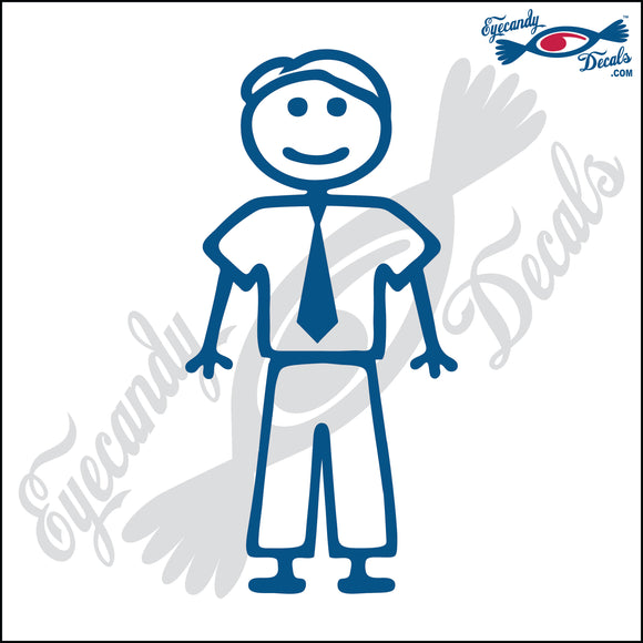 STICK FAMILY MAN IN TIE   5