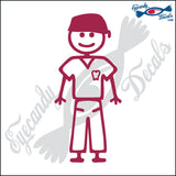 "STICK FAMILY MAN DENTIST   5"" DECAL"